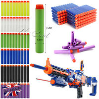 60PCS GUN SOFT REFILL BULLETS DARTS ROUND HEAD BLASTERS FOR NERF N-STRIKE TOY