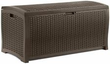 Contemporary Stylish Resin Wicker - X-Large Outdoor Deck or Patio Storage Chest