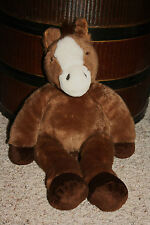 "Build A Bear Plush Stuffed Horse Pony Toy Brown White 19"" Bab Equestrian G1"