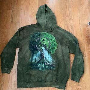 The Mountain Yin Yang Tree Adult Hoodie Sweatshirt Size 2XL