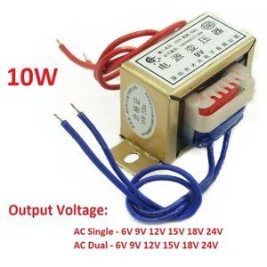 10W EI 220V 50Hz AC Power Transformer Single/Dual Output 6V/9V/12V/15V/18V/24V