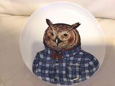 West Elm Rachel Kozlowski Dapper Animal Plate Owl NEW