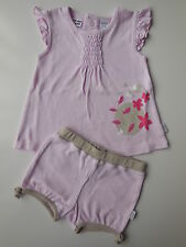 Bertini baby girl pink cotton top dress + bloomers shorts size 00 Fits 3-6 mths
