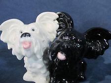 Goebel Skye Terrier Puppy Dogs Figurine Vtg West Germany White Black Mates Tmk6