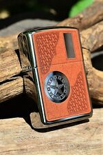 Zippo Lighter - Western Star - Armor Case - Texas - Cowboy - Rotary Engraved