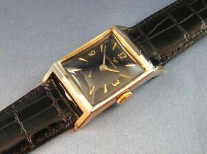 Vintage Longines Wittnauer 10K Gold GF Mens Dress Watch 17J 9WN 1950s
