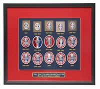 Boy Scouts of America Framed Eagle Scout Patch Collection Centennial Emblem New