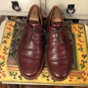 ECCO Brown leather Oxford lace up Men's Dress Shoes Size EU 42 US 8-8.5