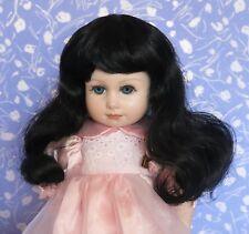 Monique  DENISE Black Doll Wig  8-9  Full Cap X-Long Wavy fits 1/6 BJD