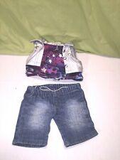 Fits Build a Bear Clothes Shirt and jean shorts
