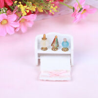 1:12 Dollhouse handmade towel rack miniature bathroom set with Perfume 3C