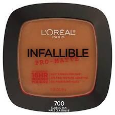 RARE Loreal Infallible Pro-matte up to 16 HR Powder Matte Finish 700 Classic Tan