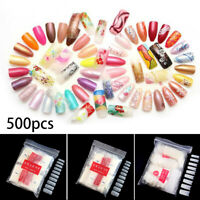 24-1000 Piece Artificial Nails French False Half Nail Art Tips Acrylic UV Gel US