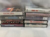 (10 Cassette Lot) Psychedelic Furs Electric Boys Vince Gill Great White CCR