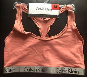 Calvin Klein CK  Women's Sports bra yoga gym running Bralette size M.dusty Pink