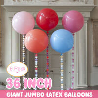 "6Pcs 36"" Latex Balloons Circular Birthday Wedding Birthday Baby Shower Party"