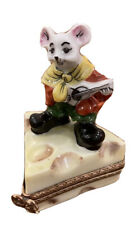 New ListingMouse Playing Guitar - Vintage Limoges Box
