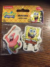 SpongeBob Squarepants Latex Free Erasers