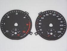 Audi A1 Tachoscheiben Zifferblätter dial faces 240 KMH 6000 RPM DZM diesel