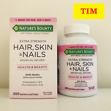 Nature's Bounty Extra Strength Hair, Skin& Nails, 250 softgels (NEW Inventory!)
