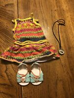 American Girl Doll Lea Clark Meet Outfit Partial W/compass EUC Retired