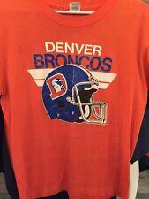 1986-Denver Broncos Vintage T-Shirt M Perfectly Worn Soft Classic -True Vintage