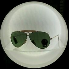 Ray Ban sunglass 3138 Shooter 001 Gold G-15 lenses + Ray Ban case & cloth 58mm
