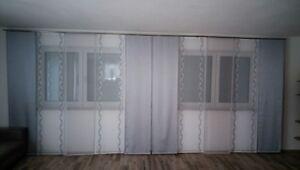 Wohnzimmergardine,Grau / Silber / weiß. gardinen set Nr.174