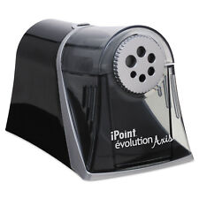 iPoint Evolution Axis Pencil Sharpener Black/Silver 5w x 7 1/2 d x 7 1/4h 15509