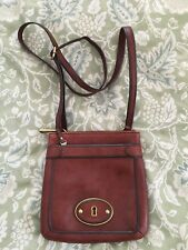 Fossil Vintage Re-Issue Brandy Leather Mini Crossbody Purse Bag-VERY NICE