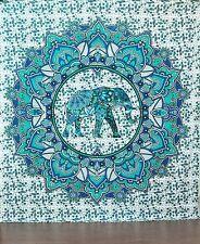 Indian Mandala Elephant Ombre Tapestry Wall Hanging Hippie Gypsy Bohemian Boho