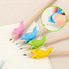 10X Student Fish Pencil Pen Grip Silicone Writing Holder Posture Correction Tool