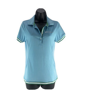 BMW Genuine Life Style Golfsport Ladies Polo Shirt Blue Size Small Short Sleeve