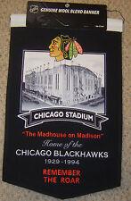 """CHICAGO BLACKHAWKS CHICAGO STADIUM """"REMEMBER THE ROAR"""" STADIUM BANNER"""