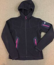 Arcteryx Covert Hoody Navy Pink Polartec Fleece Jacket Hooded Women Small
