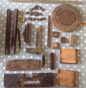 Antique Clock Case Parts Embellishments Decoration Seatboard Repair Restore