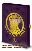 Avengers Infinity War Gauntlet Luces LED Premium A5 Notebook Cuaderno