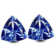 HKD CERTIFIED TANZANITE : 1,19 Ct Blau Violett Tansanit Pärchen Augenrein