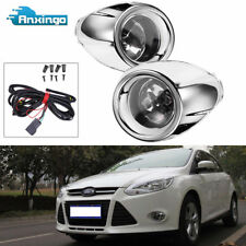 Driving Fog Lights FOR 2012-14 Ford Focus Clear Lens  Bumper Lamps+Bulbs