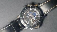 "Gorgeous GLYCINE Airman ""AIRFIGHTER"" wristwatch automatic Chronograph Triple GMT"