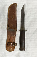 Williams Cutlery Co. Fighting Knife & Sheath WWII Unpolished Original Intact!!!!