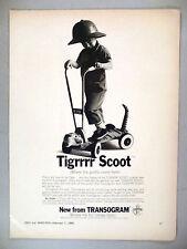 Tigrrrr Scoot PRINT AD - 1966 ~~ Tiger Scooter, Transogram