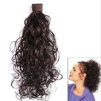 Long Ponytail Clip in Hair Extensions Synthetic Hair Piece Wavy Heat Resistant