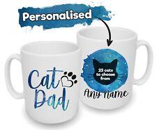 More details for spoilt rotten pets personalised blue cat mug breeds dad uncle grandad brother