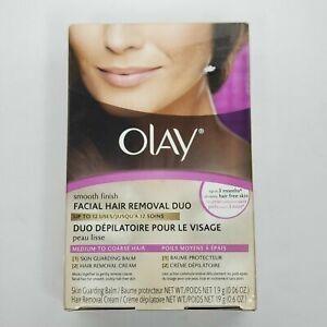 Olay Smooth Finish Facial Hair Removal Duo Kit For Medium to Coarse Hair