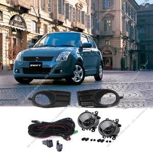 Set Bumper Light Fog Lamps w/ Switch Wiring Assy for Suzuki Swift 2005 2006 2007