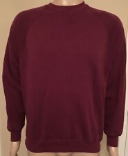 VTG Jerzees Blank Crewneck Maroon MENS XL Soft USA Made Sweatshirt 90s