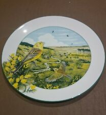"ROYAL DOULTON Fine Bone China Collectors Plate ""the heathland yellowhamer "" 1990"