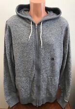 Abercrombie & Fitch Herren Hoodie Full Zip Sweatshirt Jacke grau Größe XXL 2xl