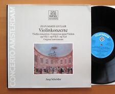Jean-Marie Leclair Violin Concertos Jaap Schroder NM/EX Telefunken 6.42180 AW